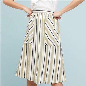 Anthropologie Akemi + Kin striped midi skirt